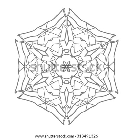illustration coloring book series magnificent diamond flower soft line print it and