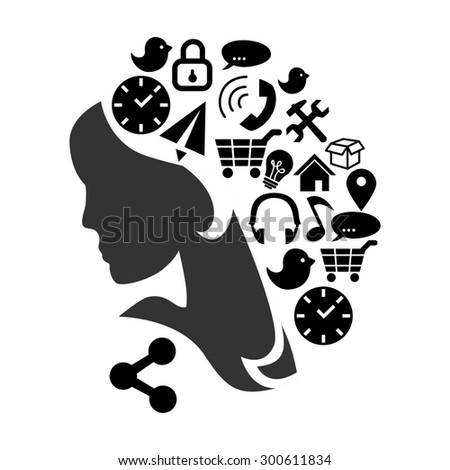 illustration dedicated to the  high technologies and communication.  - stock photo