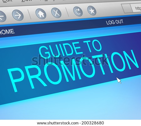 Illustration depicting a computer screen capture with a promotion concept. - stock photo