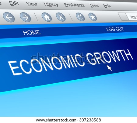 Illustration depicting a computer screen capture with an economic growth concept. - stock photo