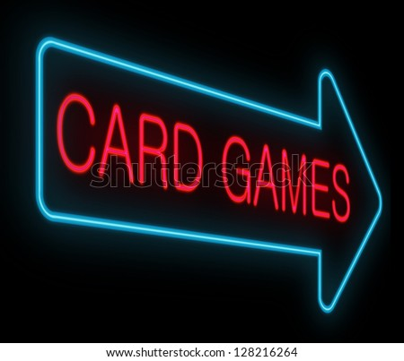 Illustration depicting a neon signage with a gambling concept. - stock photo