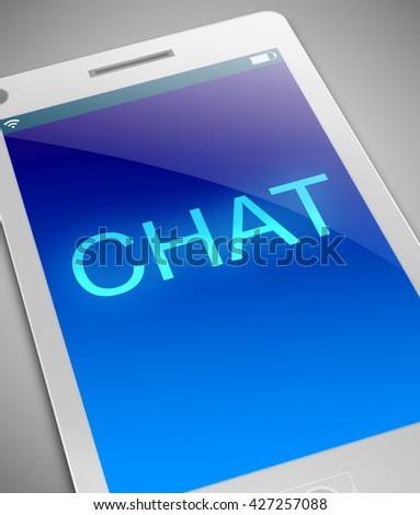 Illustration depicting a phone with a chat concept. - stock photo