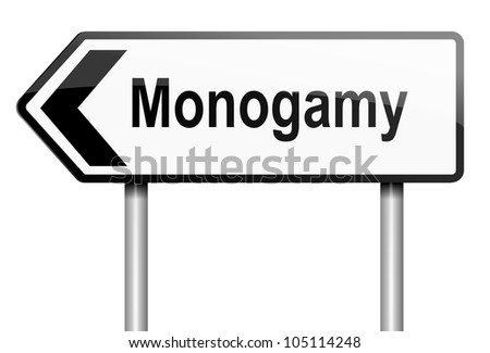 Illustration depicting a road traffic sign with a monogamy concept. White background.