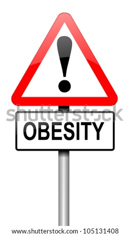 Illustration depicting a road traffic sign with an obesity concept. White background.