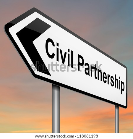 Civil Partnership Symbol Civil Partnership Concept