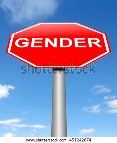 Illustration depicting a sign with a gender concept. - stock photo