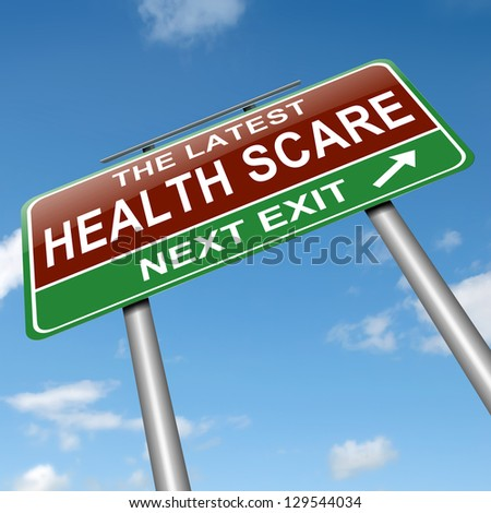 Illustration depicting a sign with a health scare concept. - stock photo