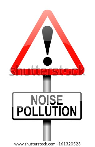 Illustration depicting a sign with a noise pollution concept.