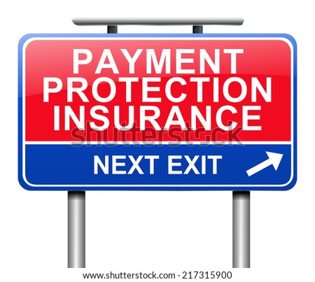 Illustration depicting a sign with a payment protection insurance concept.