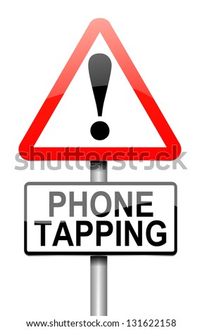 Illustration depicting a sign with a phone tapping concept.