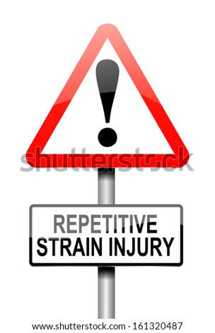 Illustration depicting a sign with a repetitive strain injury concept.