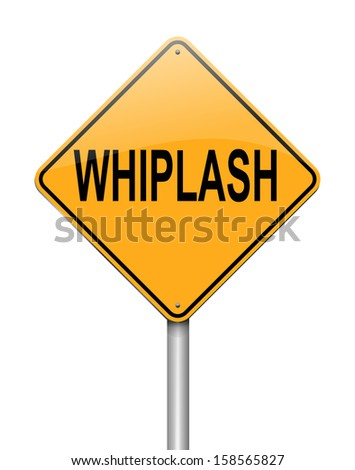 Illustration depicting a sign with a whiplash concept.