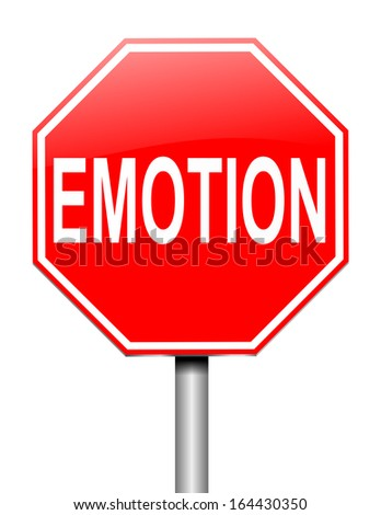 Illustration depicting a sign with an emotion concept. - stock photo