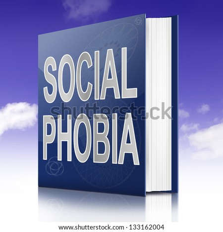 Illustration depicting a text book with an  concept title. Sky background. - stock photo
