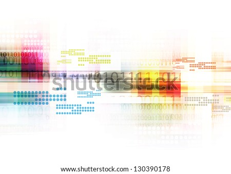 illustration digital technology, abstract background - stock photo