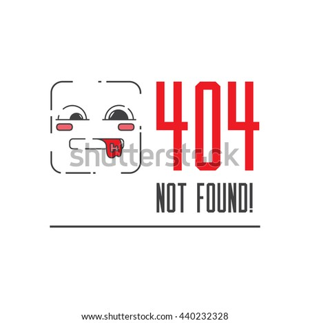 Illustration error page not found. 404 error connection. - stock photo