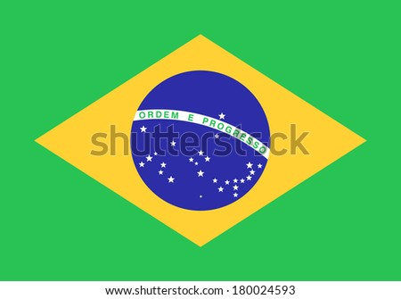 illustration: flag: Brasil.