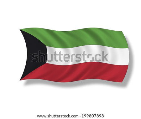 Illustration, Flag of Kuwait