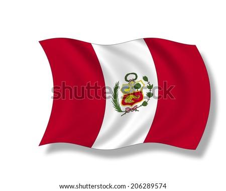 Illustration, Flag of Peru (1825 - 1950) - stock photo