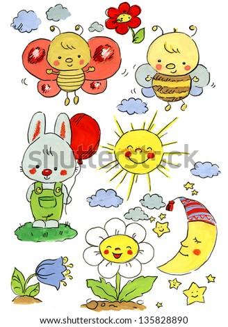 Illustration for children motives - stock photo