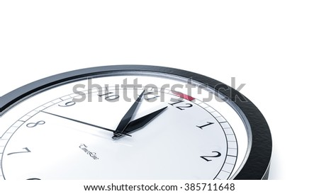 Illustration for time concepts. Isolated on white - stock photo