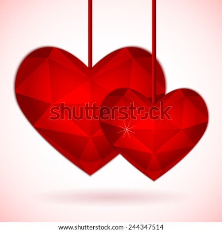 Illustration for valentine or wedding - stock photo