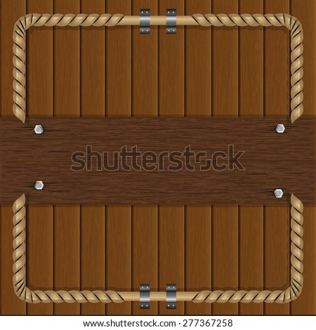 illustration frame of boards with a metal frame - stock photo