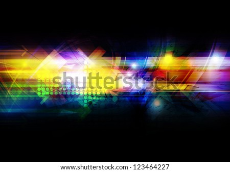 illustration future tech, abstract background