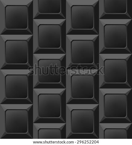 Illustration Geometric Black Seamless Pattern, Abstract Background - raster - stock photo