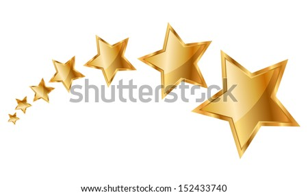 Illustration gold stars - stock photo