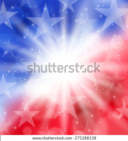 Illustration happy 4th of July card with place for text - raster - stock photo