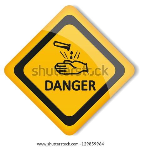 Illustration label acid - stock photo