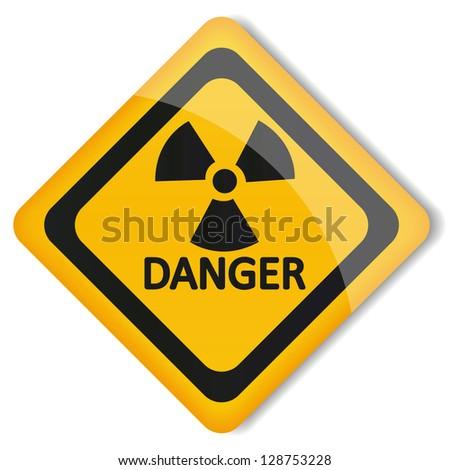 Illustration label radiation hazard - stock photo
