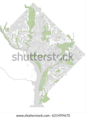 Vector Map City Washington Dc Usa Stock Vector - Usa map washington dc