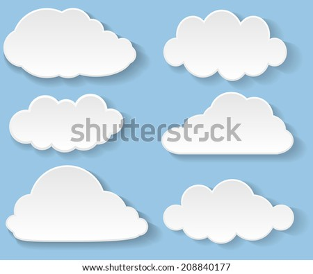 Illustration messages in the form of clouds.