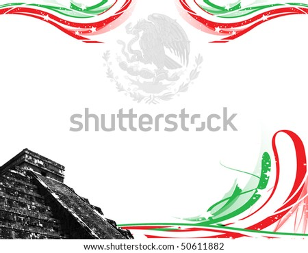 illustration mexico - stock photo