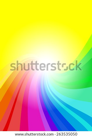 illustration of a abstract rainbow colored background  - stock photo