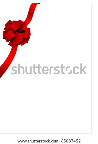 Illustration of a beautiful red glossy bow