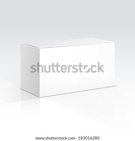 Illustration of a Blank Box - stock photo