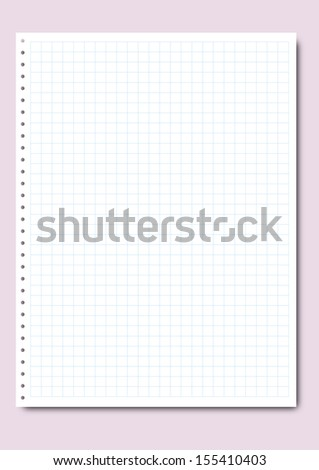 Illustration of a blank sheet page of a notebook.