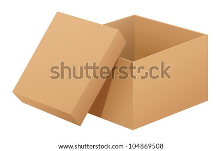 Illustration of a box on white - - stock photo