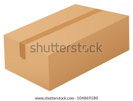 Illustration of a box on white -