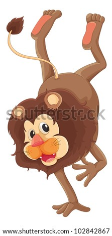 Illustration of a brown lion - EPS VECTOR format also available in my portfolio.
