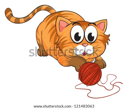 illustration of a cat on a white background