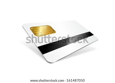 illustration of a chip card with magnetic strip - stock photo