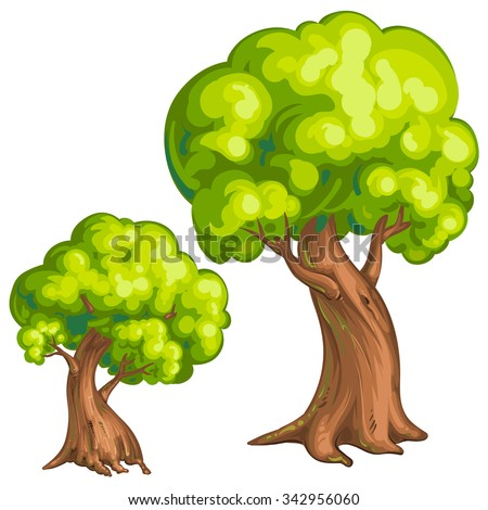 Illustration of a closeup tree - stock photo