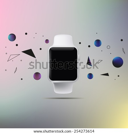 Illustration of a conceptual smart watch - stock photo