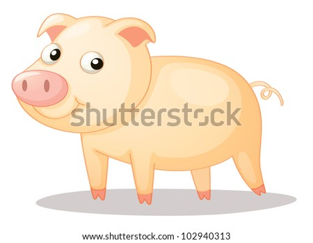 Illustration of a cute piggy - EPS VECTOR format also available in my portfolio.