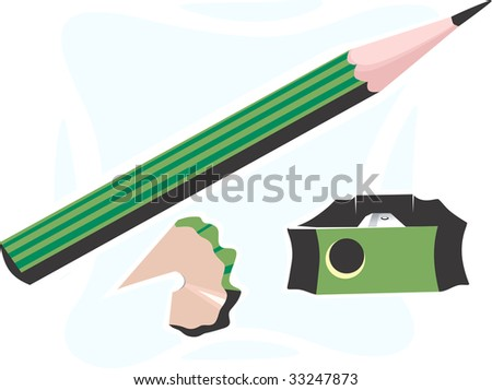 Illustration of a cutter sharpened pencil