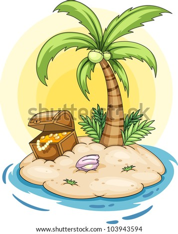 Illustration of a deserted island - EPS VECTOR format also available in my portfolio.